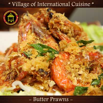 Malay Village Restaurant Butter-Prawns